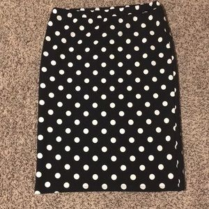 Polk a dot  pencil skirt